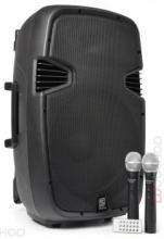 Prenosný bezdrôtový ozvučovací systém reprobox SPJ-PA912USB+FM